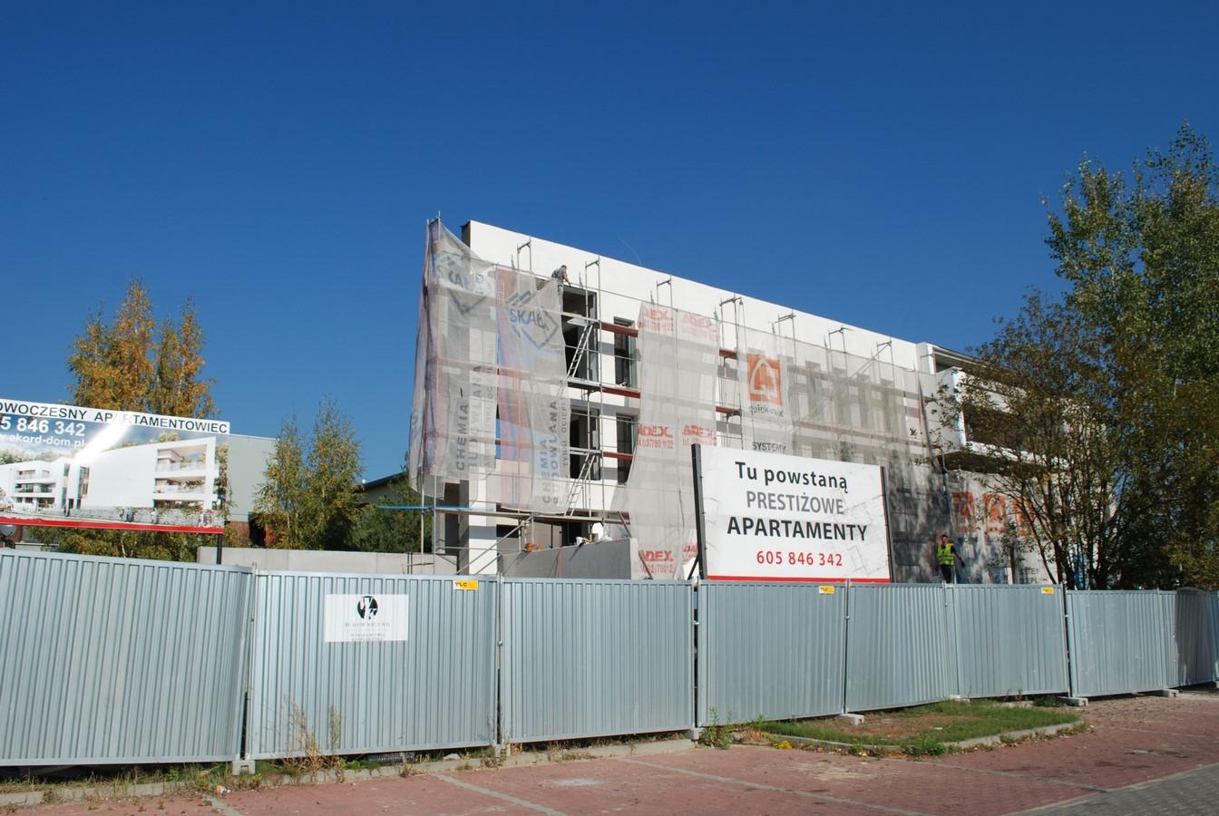 Apartamenty Kameralne Tychy ul. Żorska -zjęcie z budowy 10.10.18