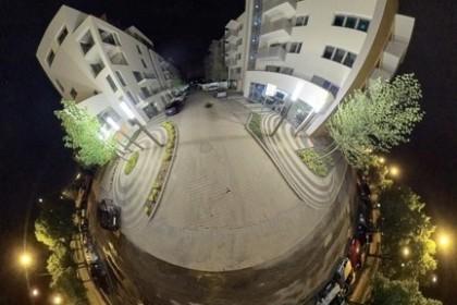 Apartamentowiec A1 nocą Osiedle Panorama