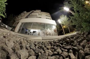 Osiedle Panorama Apartamentowiec A1 nocą