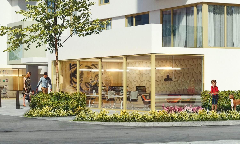 Osiedle Panorama - rendering Lokale usługowe Apartamentowiec nr 1